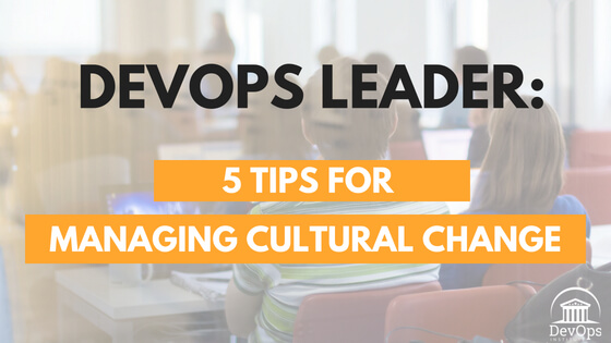 DevOps Leader: 5 Tips for Managing Cultural Change
